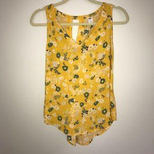 Yellow Flower Print Tank